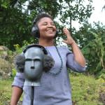 Aurélie Nyirabikali Lierman fieldrecording in Rwanda for Africa On Tape 2018 (photo Lierman)