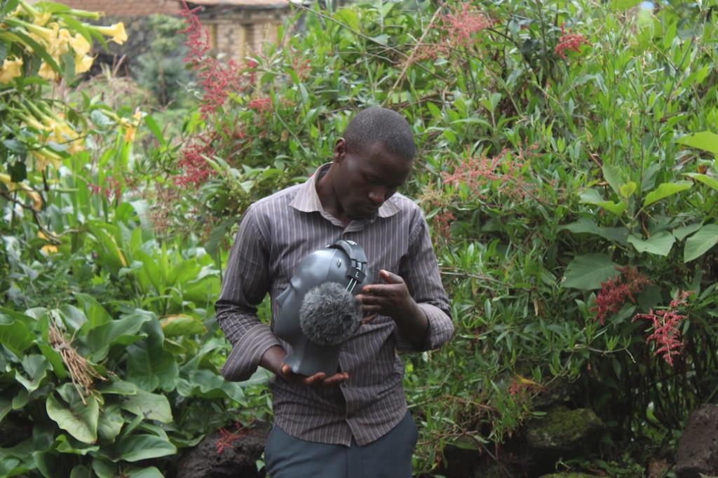 - Africa On Tape 2018 - Field recording in the Virunga Mountains, Rwanda - photo Aurélie Nyirabikali Lierman